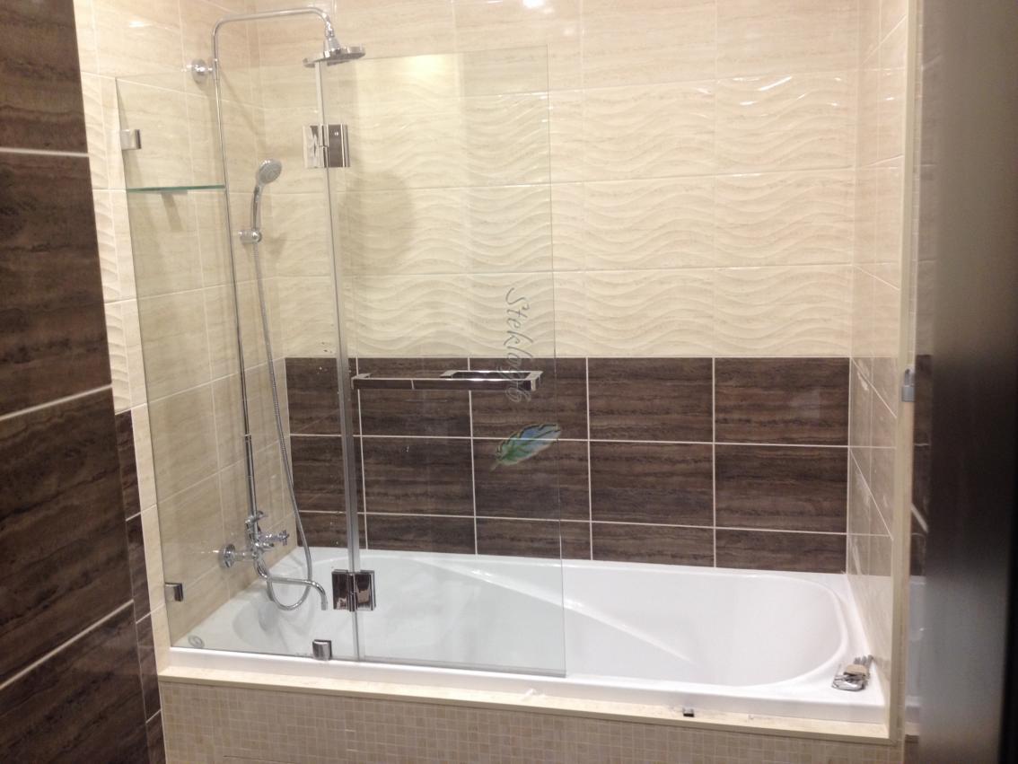 Стеклянный экран для ванной своими руками 53